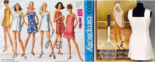 simplicity 8203 trousers to tennis dress