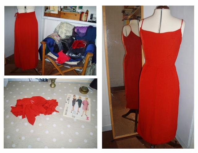 Pauline Trigere Dress, McCalls 7530, remake a skirt to dress