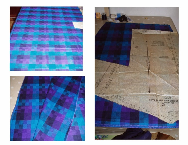simplicity 3636 plaid skirt upcycle refashion to plaid blouse