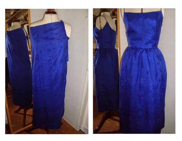 mccalls 7530 pauline trigere refashion skirt to dress