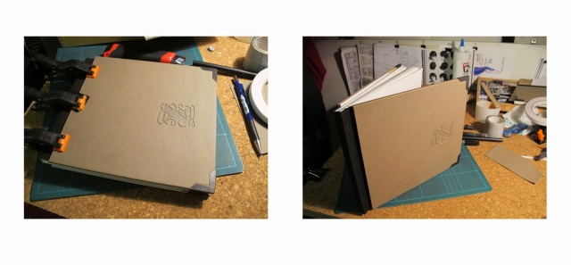 upcycle swatch book to sketch book