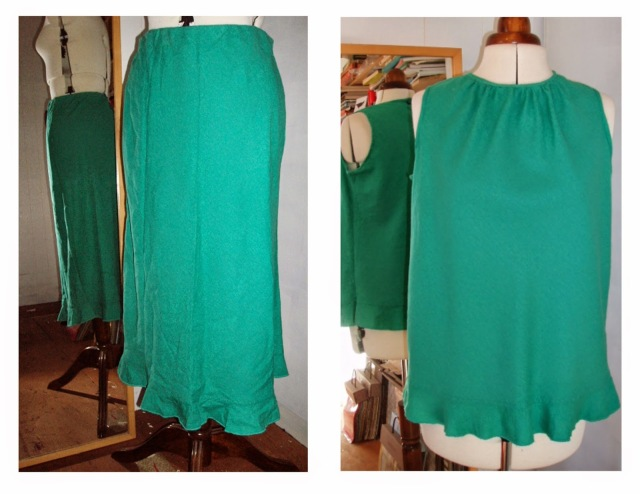 refashion skirt to top restyle upcycle