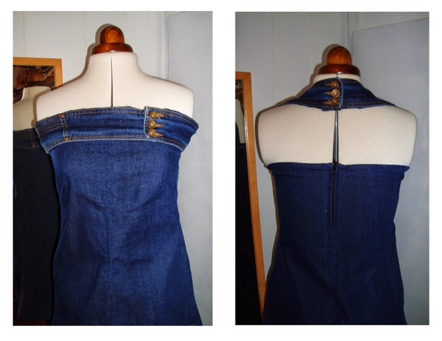 jeans to denim dress remake