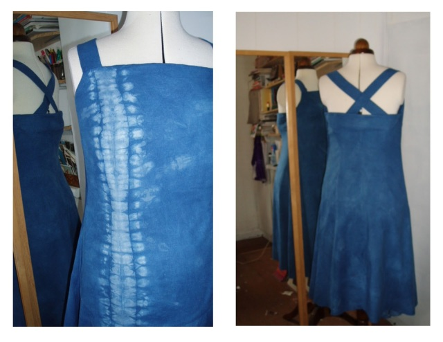 sheet dress shibori