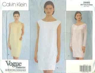 sheet shibori dress vogue 2690 calvin klein