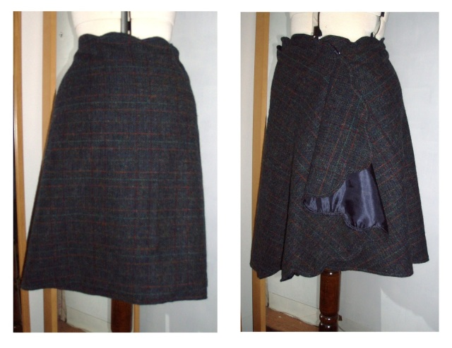 martha stewart no sew wrap skirt in tweed