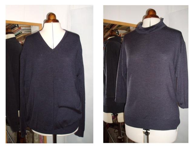 wool sweater remake