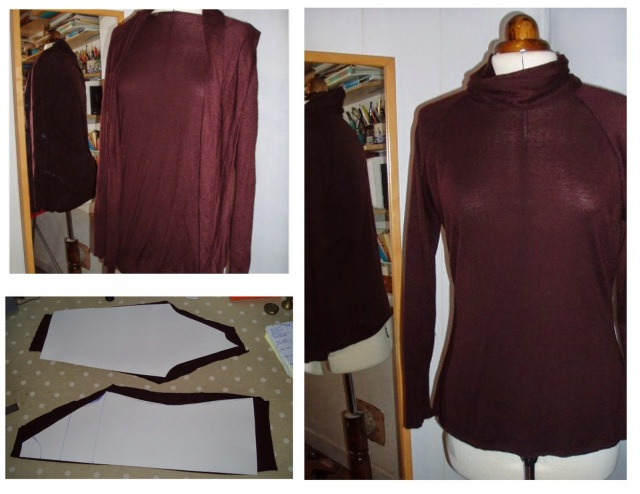 upcycle sweater, refashion sweater, sweater remade