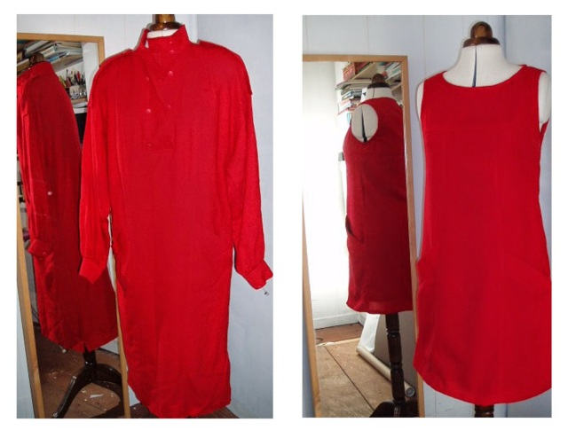 red dress remake - upcycle refashion remake dress