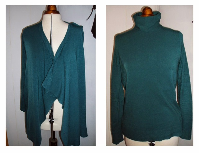 cardigan to pullover remake upcycle