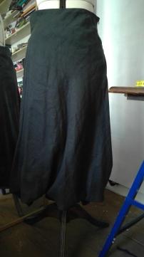 skirt to dress upcycle
