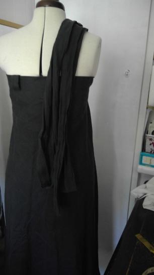 skirt upcycle to dress