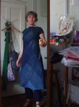 Denim dress refashion, lenght
