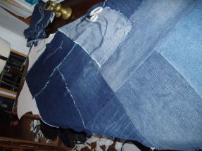 Denim dress refashion, making up