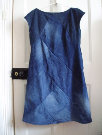 denim dress refashion