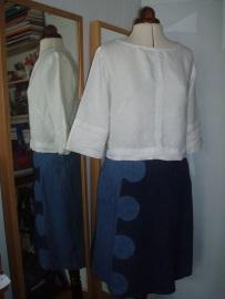 double denim with linen