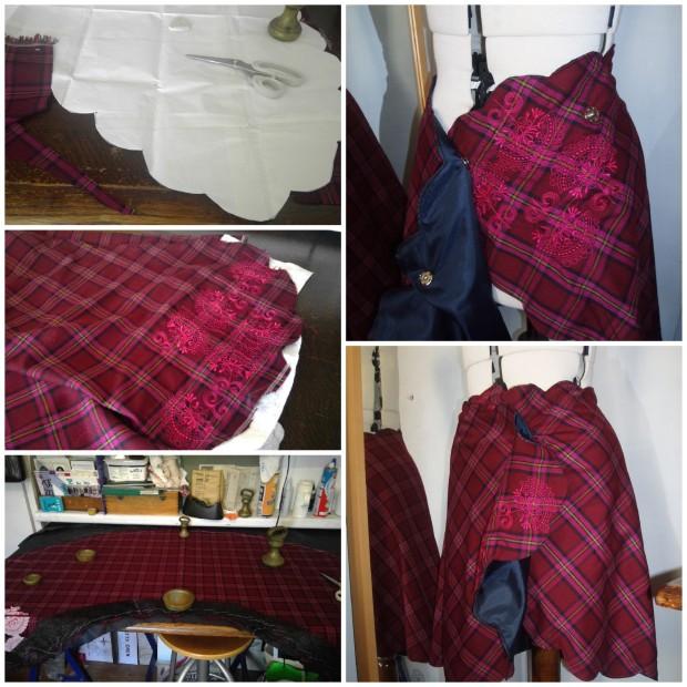 plaid-scallop-skirt
