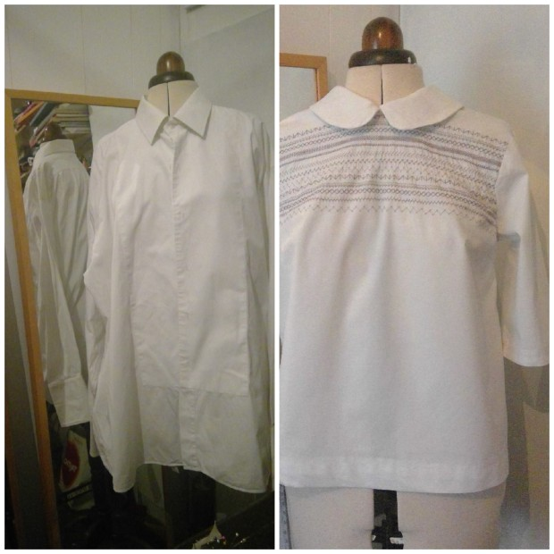 white bianca shirt upcycle