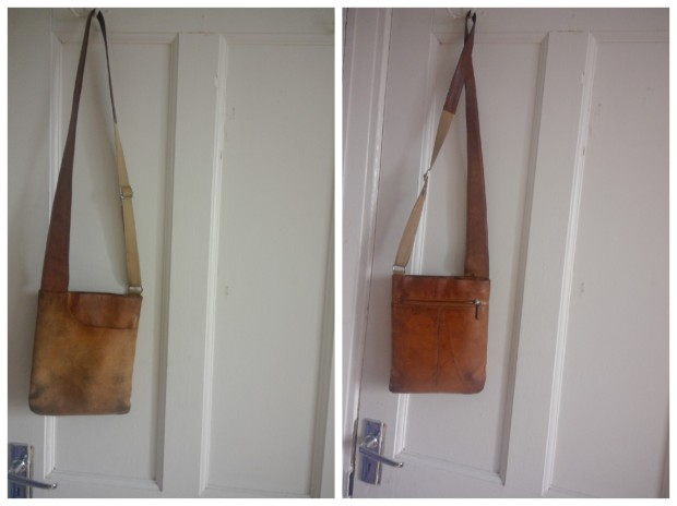 leather bag before