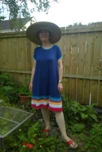 anthro dress big hat