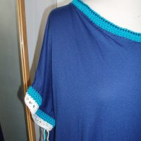 anthro xanthe hack neck and sleeve