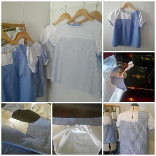 shirt blouse - upcycle shirt