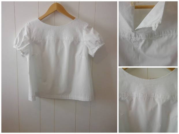 white shirt upcycle