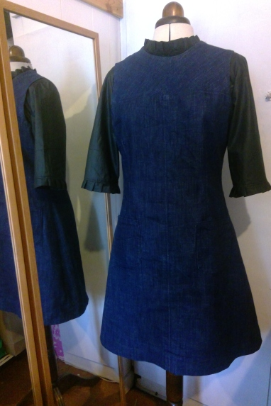 Blouse and Denim Dress (2)