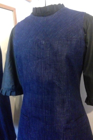 Blouse and Denim Dress (3)