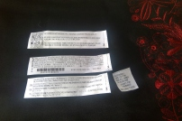 black emb skirt labels