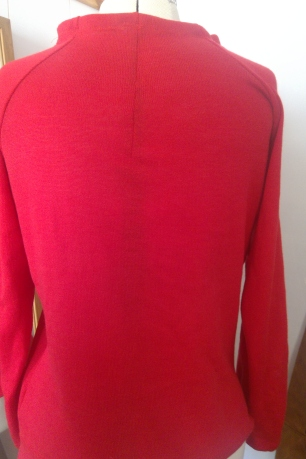 red raglan sweater (3)