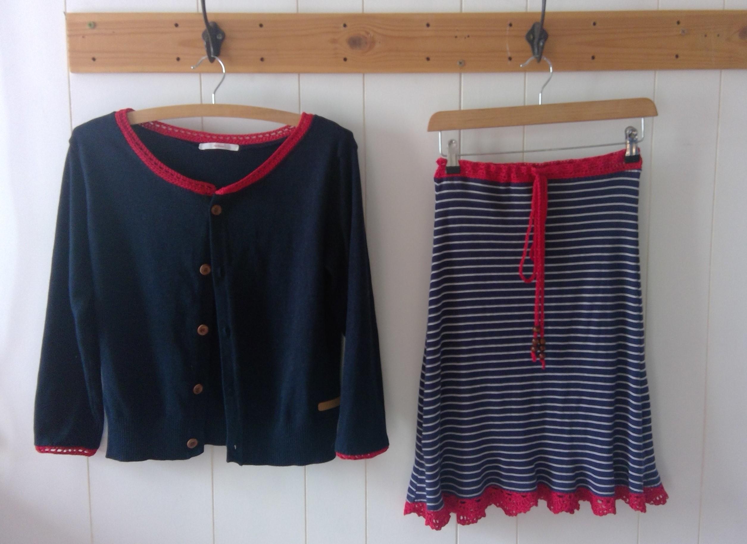 sweater tunic twin set