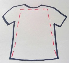 teeshirt cut