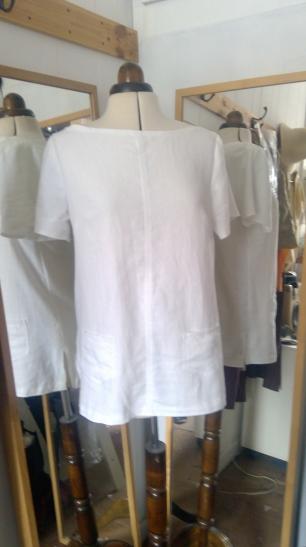 short sleeve linen t